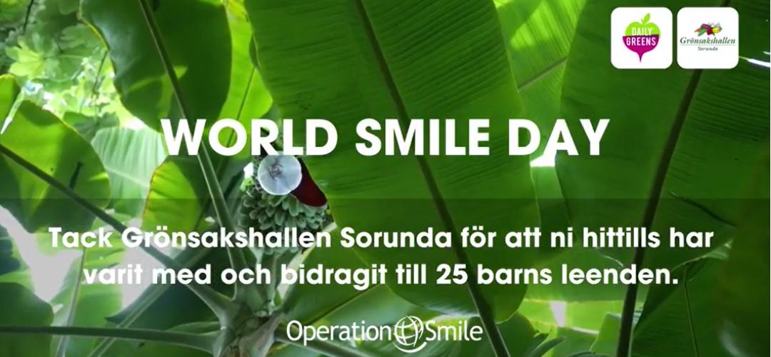 Grönsakshallen Sorunda är med och bidrar till Operation Smile