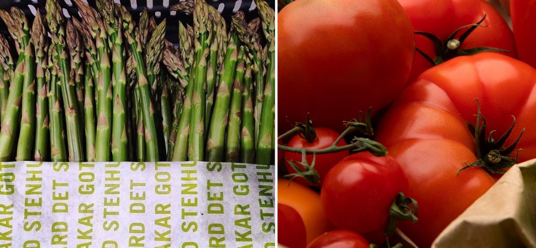 1.8 ton plast mindre med hjälp av sparris och tomater